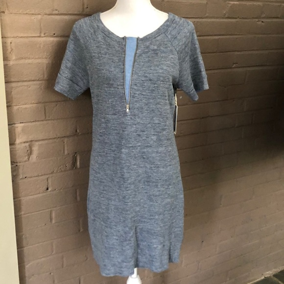 15f2960709 J Brand NWT zip front sweatshirt dress M